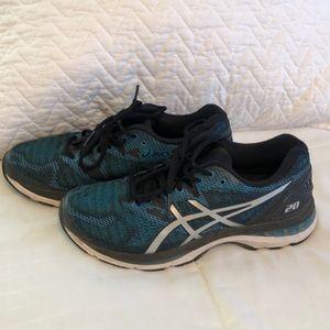 ⭐️Mens Asics Gel Nimbus 20 Aqua Black Sneakers  6